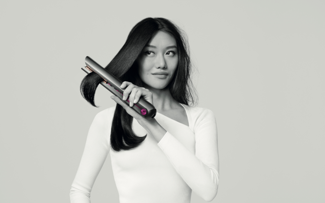 Introducing the Dyson Corrale™.                             The only hair straightener with flexing plate technology.